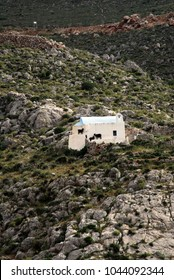 Kalymnos, Dodecanese islands, Greece. A traditional country church at Vathi village.