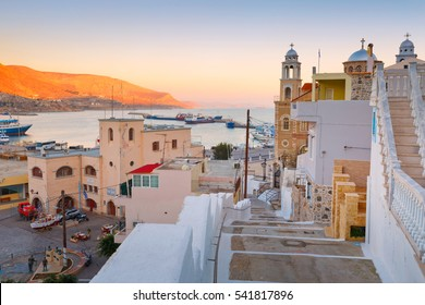 Kalymnos, Greece - December 10, 2016: Kalymnos island in Dodecanse archipelago in eastern Aegean.