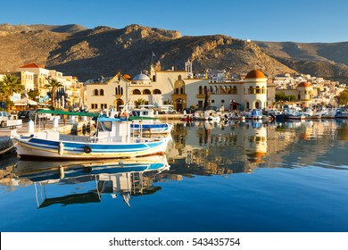 Kalymnos, Greece - December 11, 2016: Kalymnos island in Dodecanse archipelago in eastern Aegean.