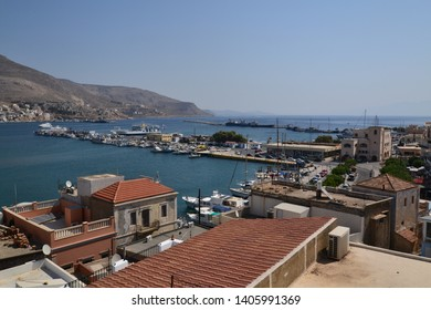 Kalymnos, Greece-September 16, 2017:Pothia, the capital town of Kalymnos island, Dodecanese, Greece