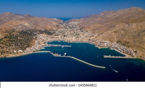 Kalymnos island Greece aerial view