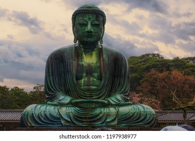 The Kamakura Daibutsu (The Great Buddha of Kamakura) in Kamakura, Japan