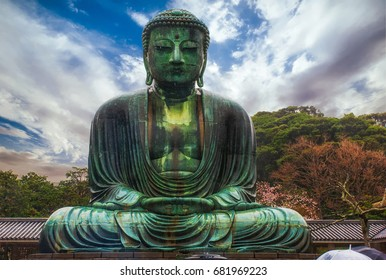 The Kamakura Daibutsu (The Great Buddha of Kamakura) in Kamakura, Japan