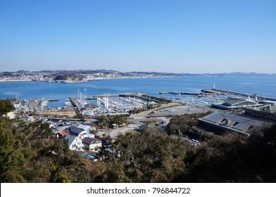 Kamakura from Enoshima, Japan
