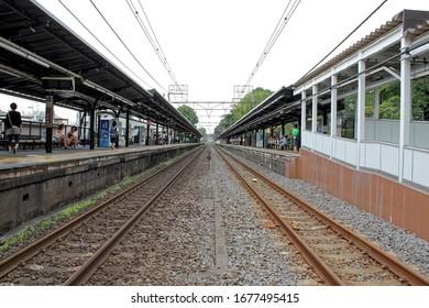 Kamakura, Japan - July 27, 2019: Kita-kamakura station . The kamakura city is famous for tourist come to visit Daibutsu
