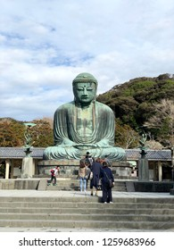 Kamakura japan-December 2018,05:Tourists are queuing in front of Kotoku-in Great buddha statue in Kamakura
