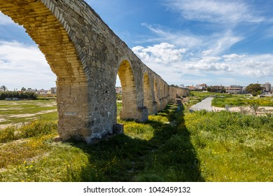 Kamares antique aqueduct in Larnaca, Cyprus