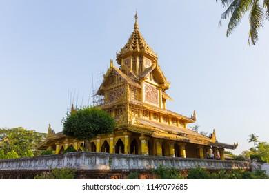 Kambazathadi Golden Palace, in Bago, in Myanmar.