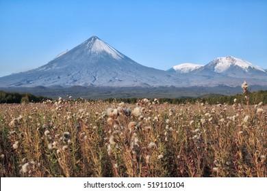 Kamchatka Peninsula. Russia. The volcano of Klyuchevskaya sopka. (4800 m) is the highest active volcano of Eurasia.