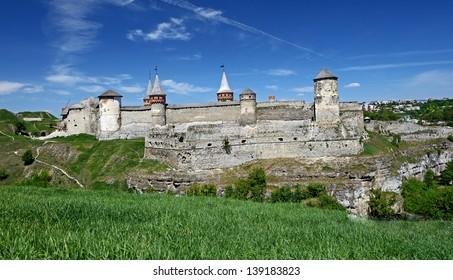 Kamenetz Podolsky Fortress in spring