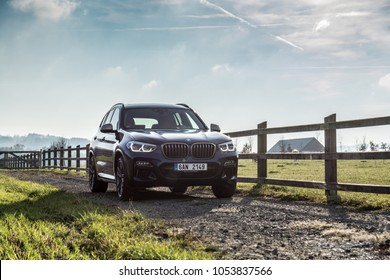 KAMENICE, THE CZECH REPUBLIC, 16. 11. 2017: New BMW X3 M40i, model year 2018 in Czech