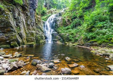 Kamienczyk Waterfall in Szklarska Poręba in Poland