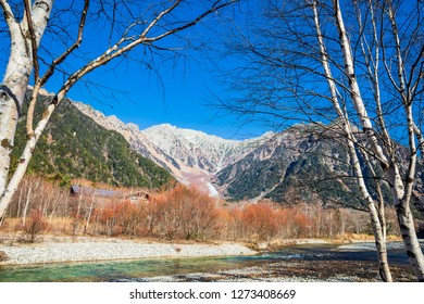 Kamikochi is northern part of Japan Alps. Beautiful mountain scenery. There are many hiking trails. The walkway alongside Azusa River, which has clear blue water,Nagano prefecture,Japan