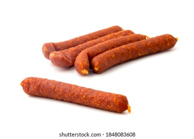 Kaminwurzen (smoked salami) is a typical sausage  originating in South Tyrol.