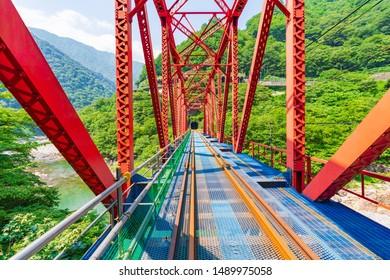 Kamioka Rail Mountain Bike Gattango iron bridge landscape (Gorge course)