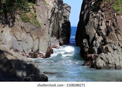 Kamiwarisaki of scenic spots in Miyagi Prefecture