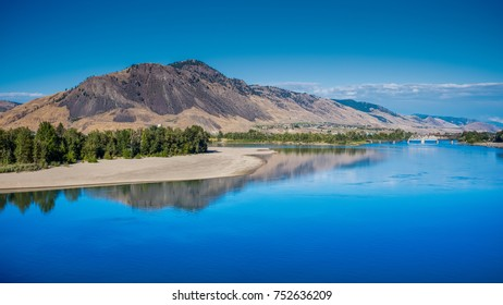 "Kamloops, meaning ""meeting of the waters"" is a small city at the confluence of the two branches of the Thompson River near Kamloops Lake – Kamloops, Canada"