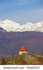 Kamnik with Kamnik-Savinja Alps in background
