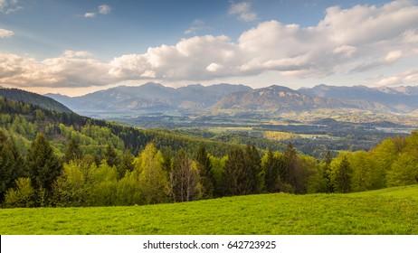 The Kamnik-Savinja Alps, Slovenia around the village Jamnik