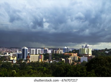 Kampala business district skyline