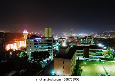 Kampala skyline at night