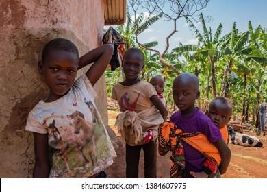 Kampala, Uganda 02 09 2019: Portrait Of Local Children In Kampala, Uganda.