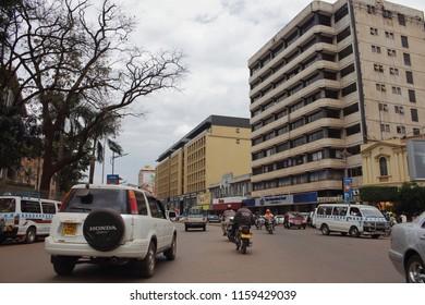 Kampala, Uganda, 12/08/2017 : Kampala Road