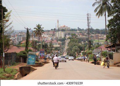 KAMPALA, UGANDA - CIRCA NOVEMBER 2015: A landscape photo of Uganda's capital city, Kampala.