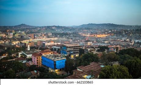 KAMPALA, UGANDA - CIRCA NOVEMBER 2016: View of the city of Kampala.