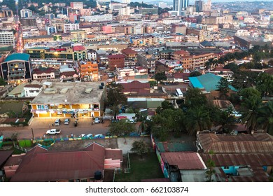 KAMPALA, UGANDA - CIRCA NOVEMBER 2016: View of the city of Kampala.