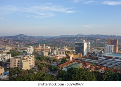 KAMPALA, UGANDA - CIRCA SEPTEMBER 2016: View of the city of Kampala
