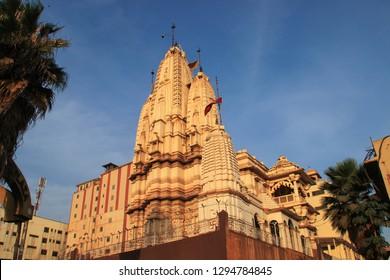 Kampala, Uganda - January 12, 2015: Hindu temple in the capital of Uganda, Kampala