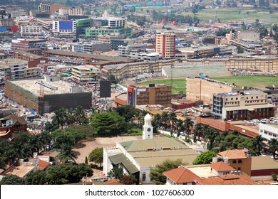 Kampala. View of the city of Kampala. View from above from the minaret of the biggest mosque. JUNE 2016