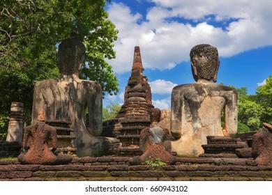 Kamphaeng Phet Historical Park , Old Buddha in the park
