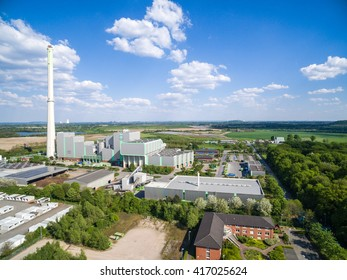 KAMP-LINTFORT / GERMANY - MAY 07 2016 : The garbage incineration plant in the sun