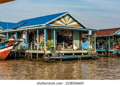 Kampong Chhnang; Kingdom of Cambodia: a picturesque floating village in the Tonle lake