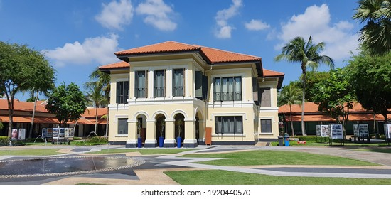KAMPONG GLAM, SINGAPORE - DECEMBER 27, 2019: Malay Heritage Centre or Istana Kampong Glam in Singapore