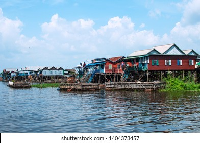 Kampong Kleang stilt houses Village 65K East south of Siem Reap Town. During France colonial Cambodia. Kampong Kleang  was where France transport goods out of Cambodia.