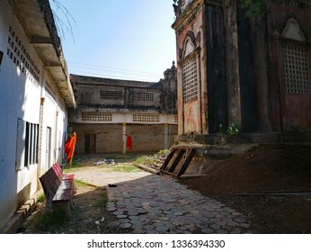 Kampong Thom, Cambodia. 19-12-2018. Inside the old walled temple of Entri Sam Voreak Pagoda, also known as the old Wat Kampong Thom Temple.