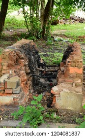 Kampong Tralach; Kingdom of Cambodia - august 21 2018 : crematorium in the Wat Kampong Tralach Leu pagoda site