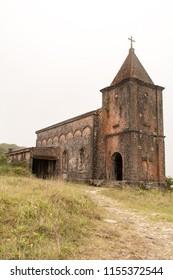 Kampot, Cambodia : March 18 2015 : Abandoned Christian Church Phnom Bokor Kampot, Cambodia.