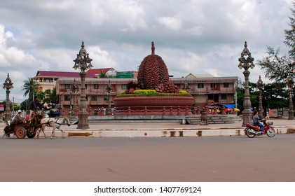 Kampot. The Province Of Kampot. Cambodia. 11.27.2012. The monument to the durian.