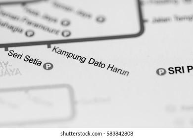 Kampung Dato Harun Station. Kuala Lumpur Metro map.