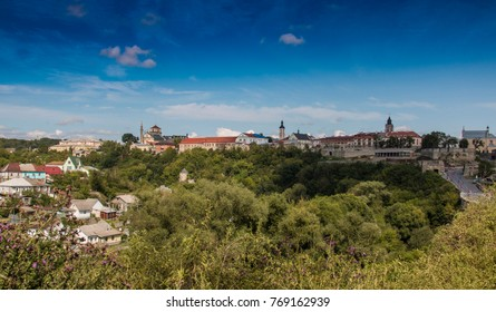 Kamyanets-Podilsky old town view, summer city panorama, Ukraine