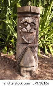 Kanak totem pole, New Caledonia