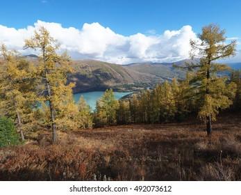 The Kanas lake located at north of Xinjiang
