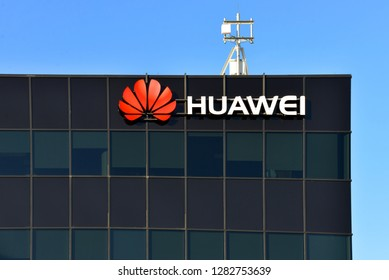 Kanata, Canada – Dec 31, 2018: The Ottawa Research & Development Centre of Chinese multinational telecommunications equipment and consumer electronics company that has significant investment in Canada