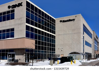 Kanata, Canada - Feb 17, 2019: BlackBerry QNX has software in 120 million cars and they have received a grant from the Canadian government to build primary operating systems in cars