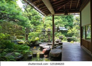 Kanazawa, Japan 28 Jul, 2017- Site of Nomura Clan Samurai House in Kanazawa, Ishikawa, Japan. a famous historic site.