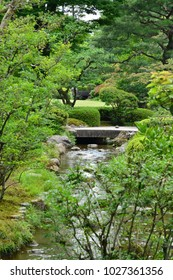 Kanazawa, Japan - august 2 2017 : the Kenroku En park